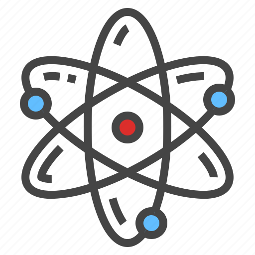 atom, electron, science icon