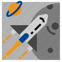 rocket, ship, space icon