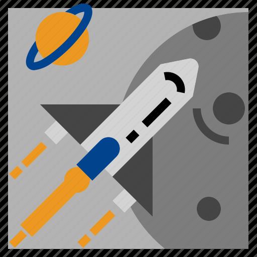 rocket, ship, space icon