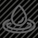 drop, liquid, science, water icon