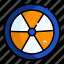 danger, nuclear, radiation, radioactive, warning