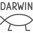 chemistry, darwin, education, evolution, fish, research, science icon