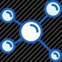 cell, molecule, science icon