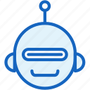 cyber, robot, science, smile, technology icon