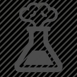 experiment, explosion, lab, laboratory, science, smoke, test tube icon