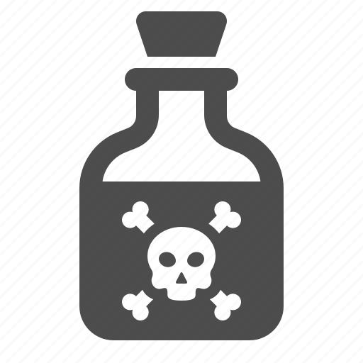 bottle, deadly, poison, potion, skull, toxic icon