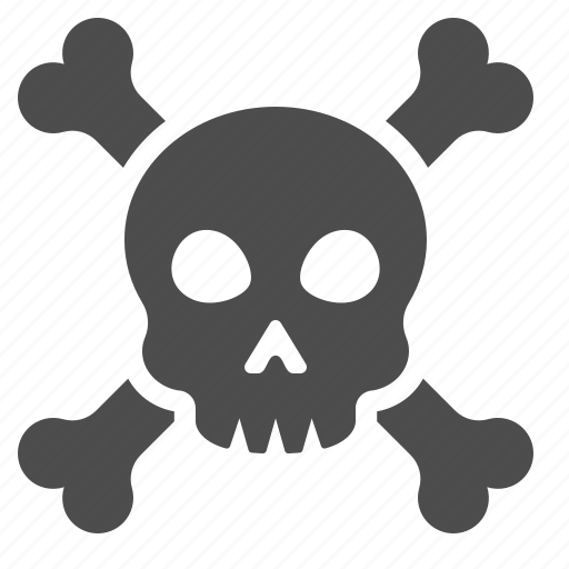bones, danger, death, poison, skeleton, skull, toxic icon