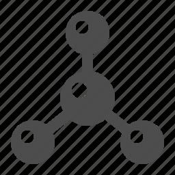 atom, molecule, particle, science icon