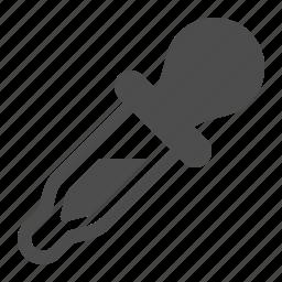 dropper, experiment, laboratory, pipette, research icon