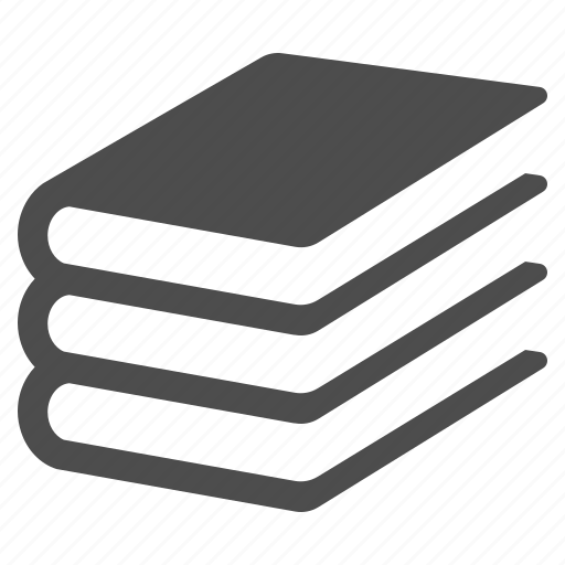 books, education, notebook, stack, textbooks icon
