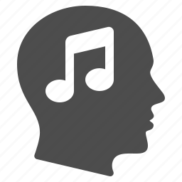 education, head, mind, music, musical note, sound, thinking icon