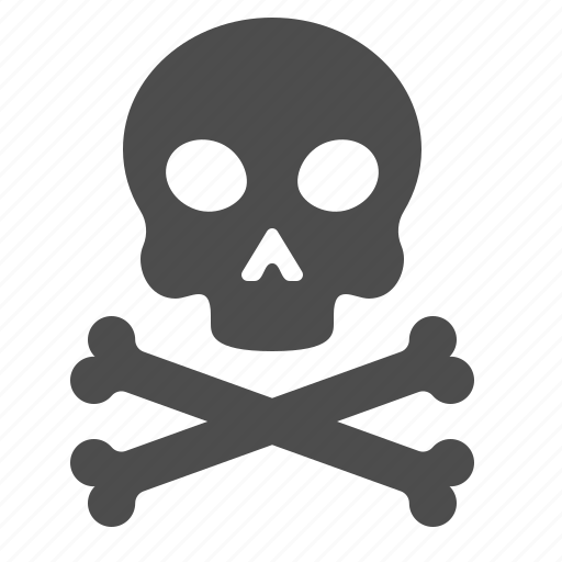 bones, crossbones, death, skeleton, skull icon