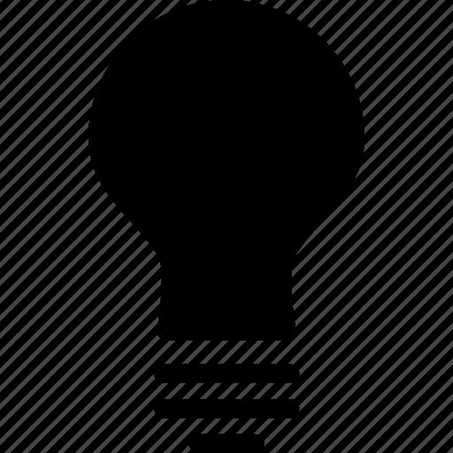 bulb, electric, energy, idea, light, on, power icon