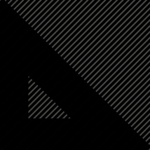 measure, rule, ruler, scale, tool, triangle icon