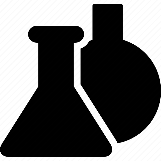 beaker, flask, grid, lab, laboratory, measuring icon