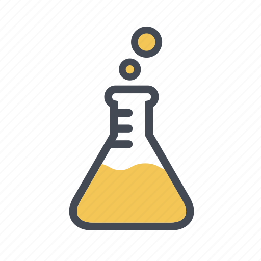 chemistry, conical flask, erlenmeyer flask, experiment, laboratory flask icon