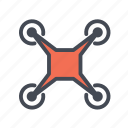 drone, nanocopter, quadcopter, uav icon