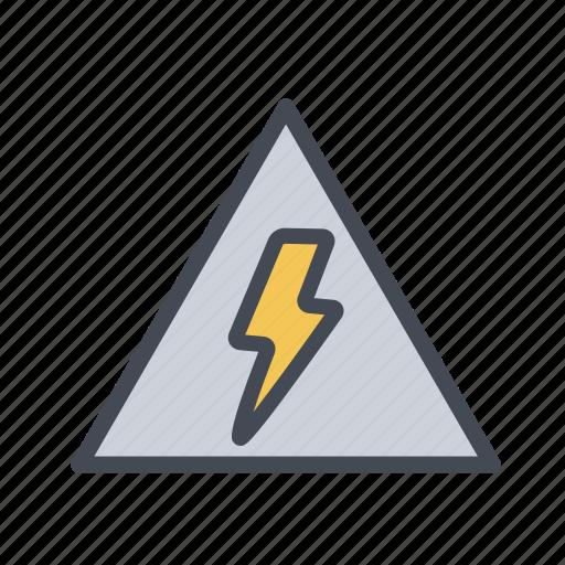 caution, danger, elctricity, high voltage, highvoltage, warning icon