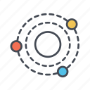 orbit, planet orbit, solar, system icon