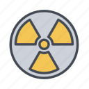 caution, hazard, radioactive, warning icon