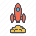 launch, rocket, rocket launch, rocket takeoff, startup icon