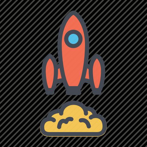 launch, rocket, rocket launch, rocket takeoff, startup icon