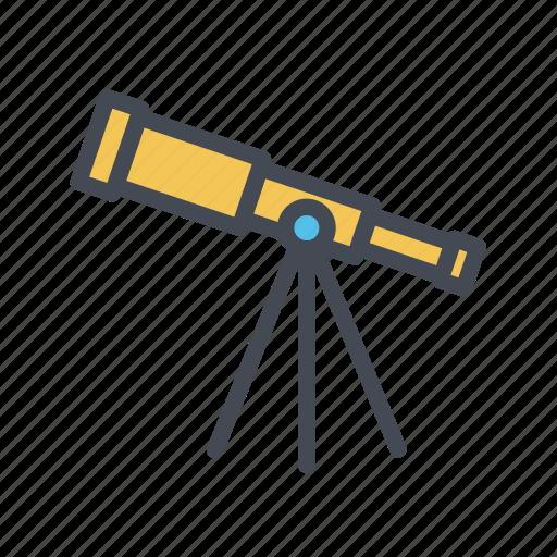 astronomy, star gazing, telescope icon