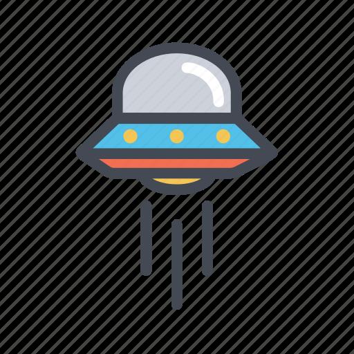 alien, launch, spacecraft, spaceship, ufo icon