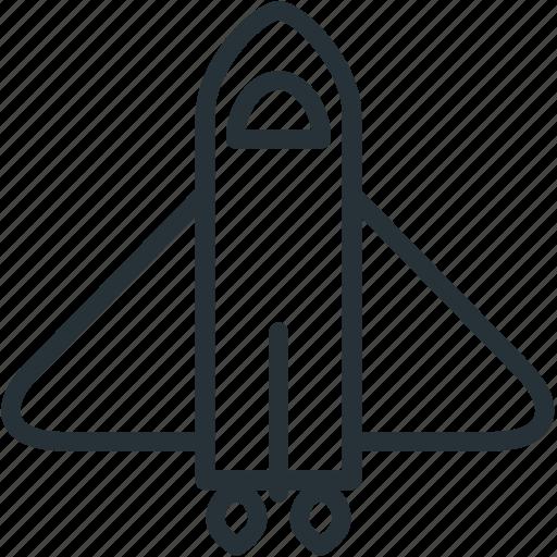 rocketship, science, space, spaceship icon