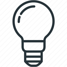 bulb, idea, science icon