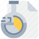 document, flask, laboratory, report, science, scientific, study icon