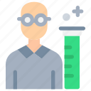 laboratory, people, science, scientific, test, tube icon