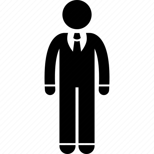 businessman, formal, male, man, tie icon