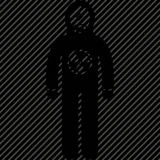 hazardous, hazmat suit, nuclear, protection, radiation, radioactive, suit icon