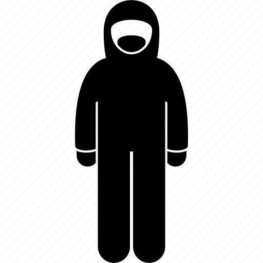 boiler suit, expert, forensic, full-body suit, protective, scientist, suit icon
