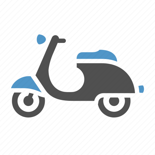 bike, moped, motor scooter, motorbike, motorcycle, scooter, vespa icon