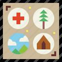 badges, emblem, scout, shield icon