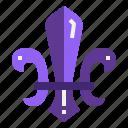 cultures, de, fleur, lis, scout icon