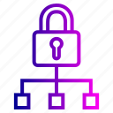hierarchy, lock, network, protection, security, sign, structure icon