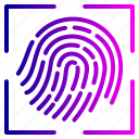 fingerlock, fingerprint, lock, proof icon