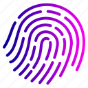 fingerlock, fingerprint, look, proof icon