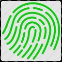 fingerlock, fingerprint, look, proof icon