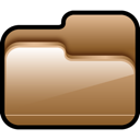 brown, folder, open icon