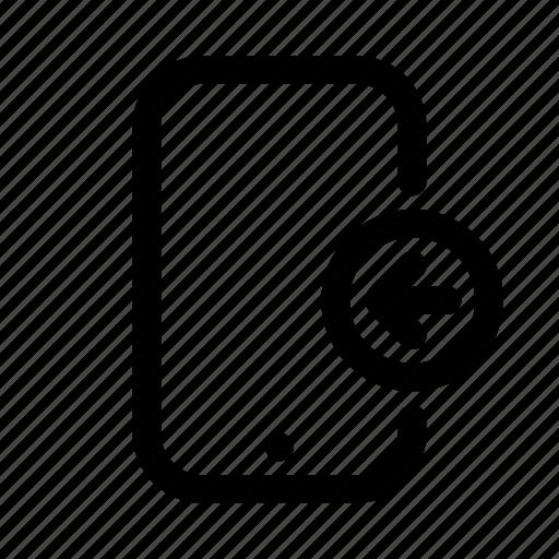 arrow, phone, slide, swipe, tablet icon