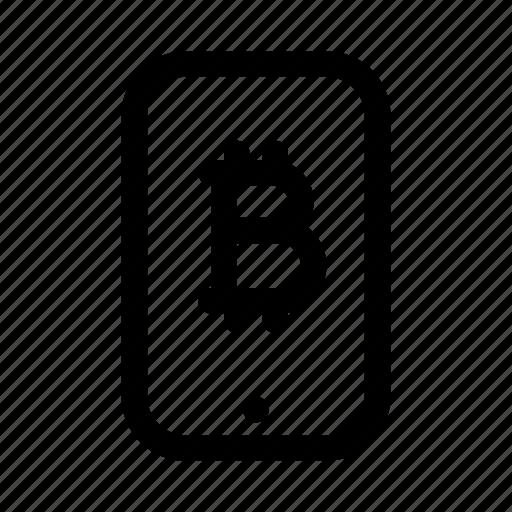 bitcoin, phone, tablet icon
