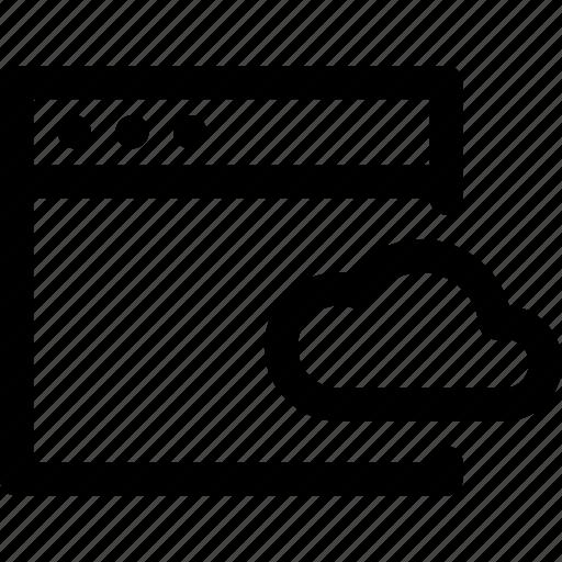 browser, cloud, computer, computing, data, internet, storage icon