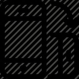 horizontal, landscape, mobile, orientation, phone, rotate, screen icon