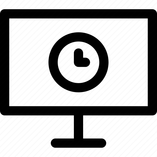 computer, internet, online, pending, screen, timer, waiting icon