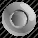 head, hexagonal, interior, pattern, screw, texture
