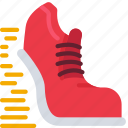 scrum, development, sprint, trainer, shoe, sneaker icon